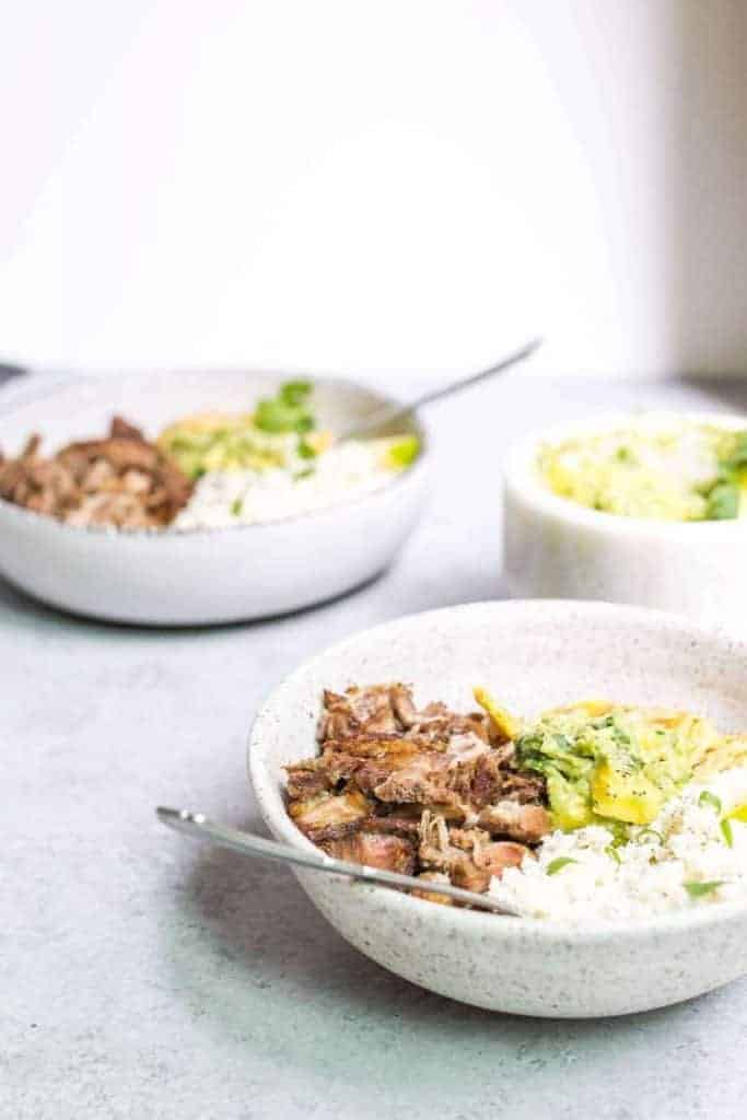 Paleo Carnitas Bowl from Food By Mars