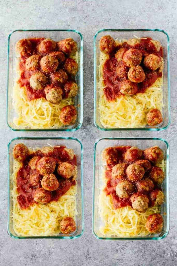 Turkey Meatball Meal Prep Bowls from Jar of Lemons