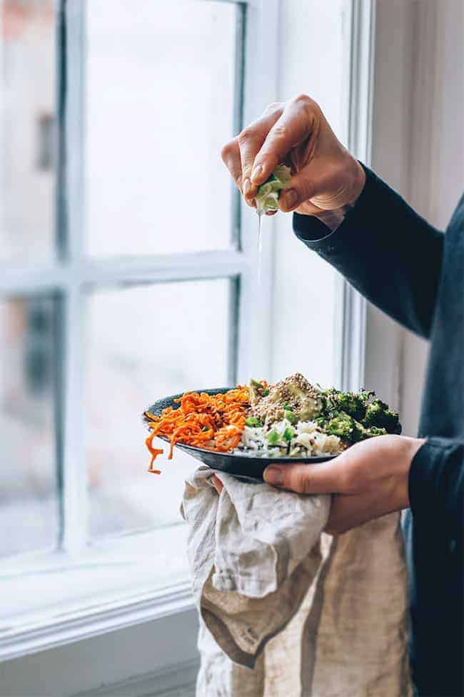 Sweet Potato Noodle Bowl from The Awesome Green