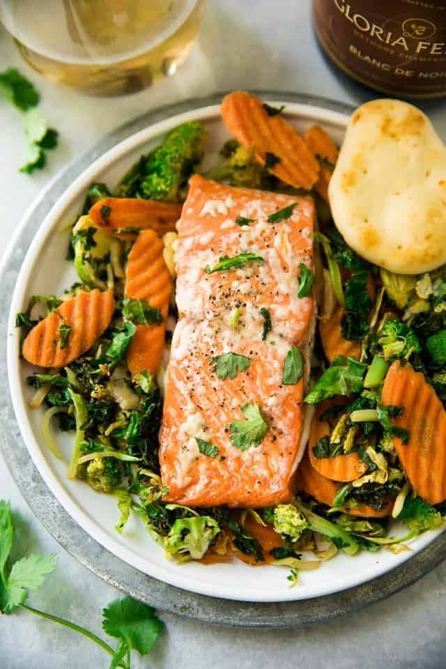 Honey Cilantro Lime Salmon from Kim's Cravings