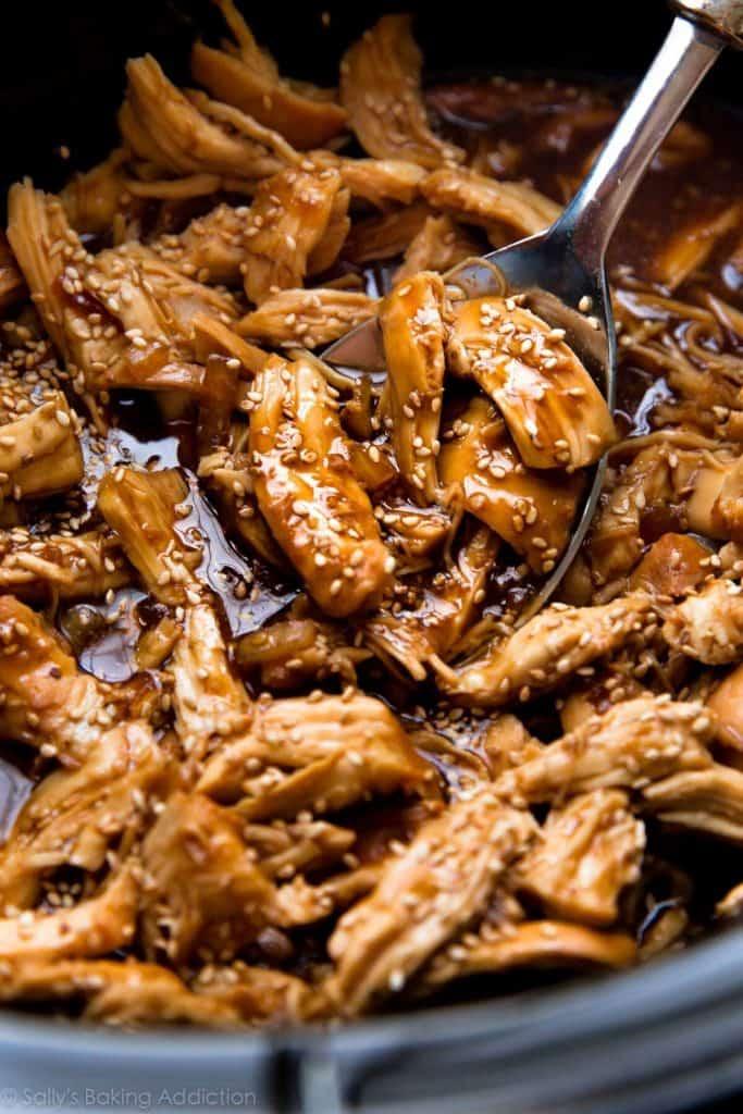 Slow Cooker Honey Teriyaki Chicken from Sally's Baking Addiction