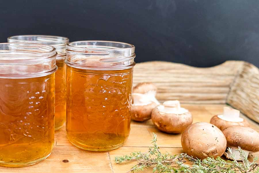 4-Ingredient Vegan Mushroom Broth from Only Gluten-Free Recipes