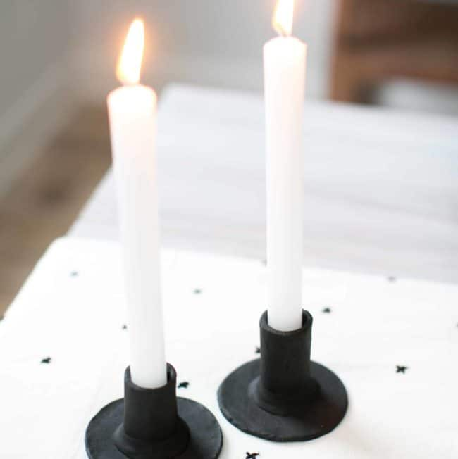Make These Scandinavian-Style Clay Candlesticks for Under $20