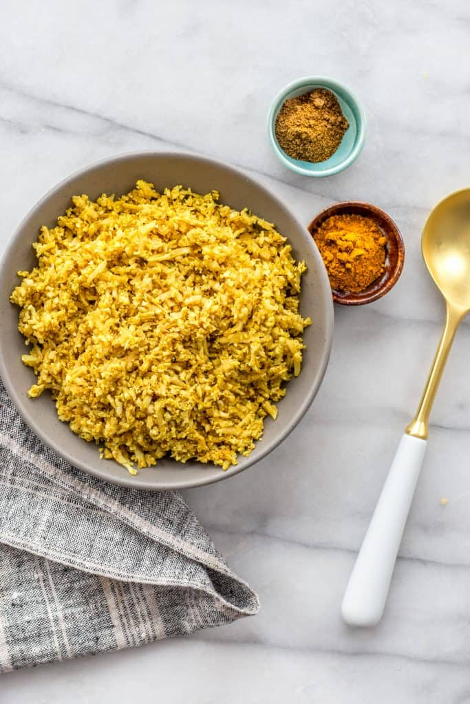 Masala Cauliflower Rice from Keto Slow Cooker & One-Pot Meals