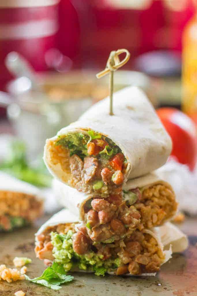 Vegan 7 Layer Burritos