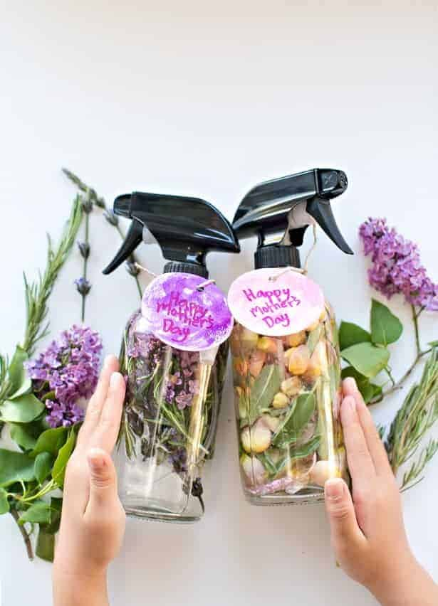 Kid-Made DIY Mother's Day Floral Herb Perfume from Hello, Wonderful