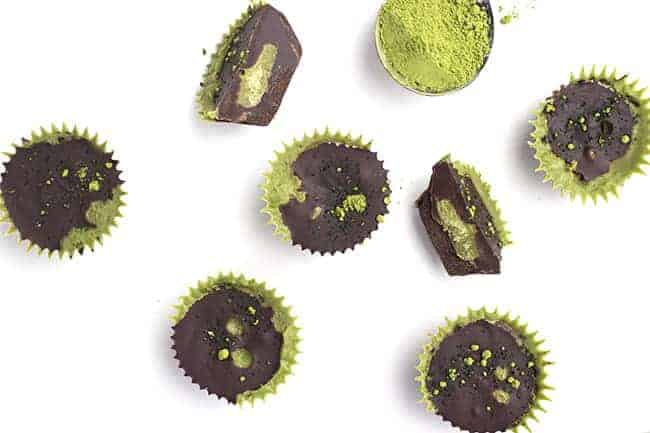 Green Tea Protein Chocolate Cups