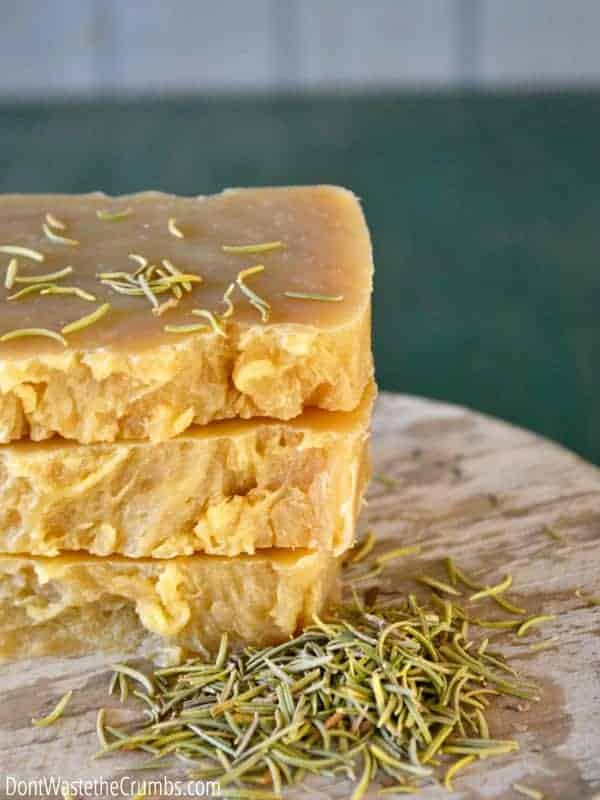 DIY Homemade Herbal Shampoo Bar from Don't Waste the Crumbs
