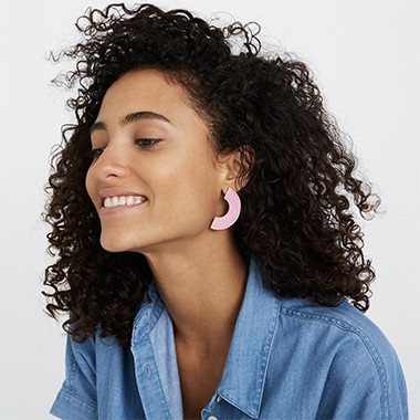 curve statement earrings