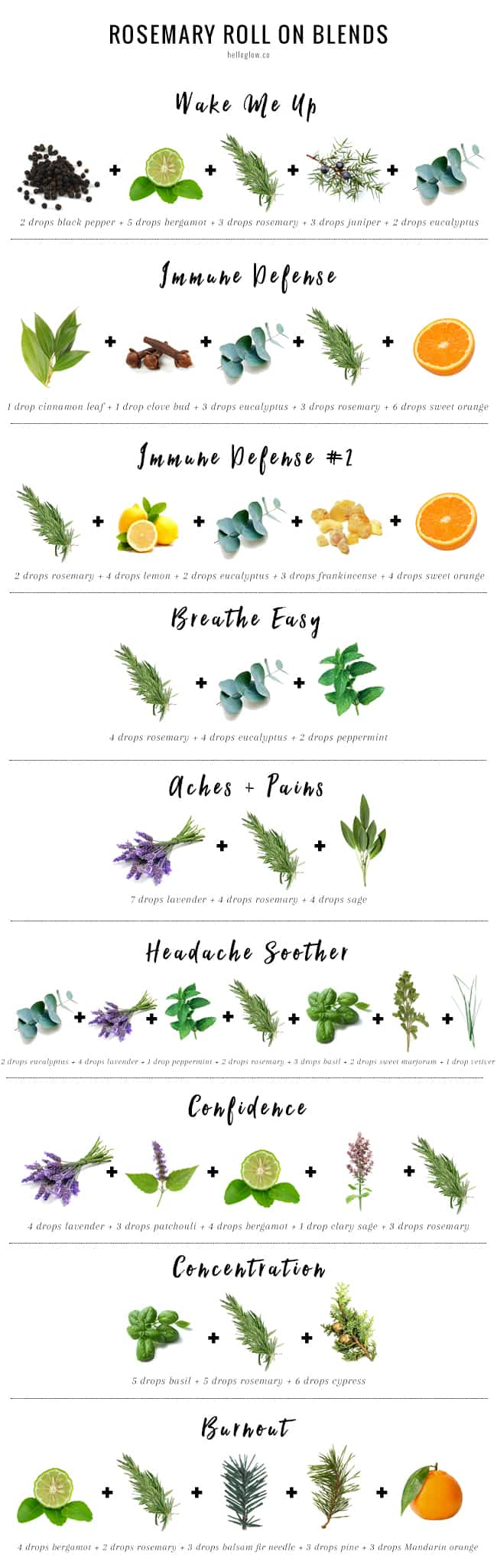 12 Rosemary Essential Oil Blends For Roll On Aromatherapy Relief Hello Glow