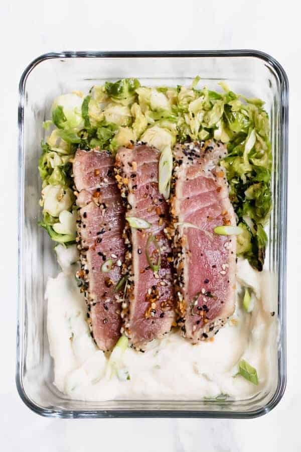 Everything Crusted Tuna Meal Prep from Abra's Kitchen
