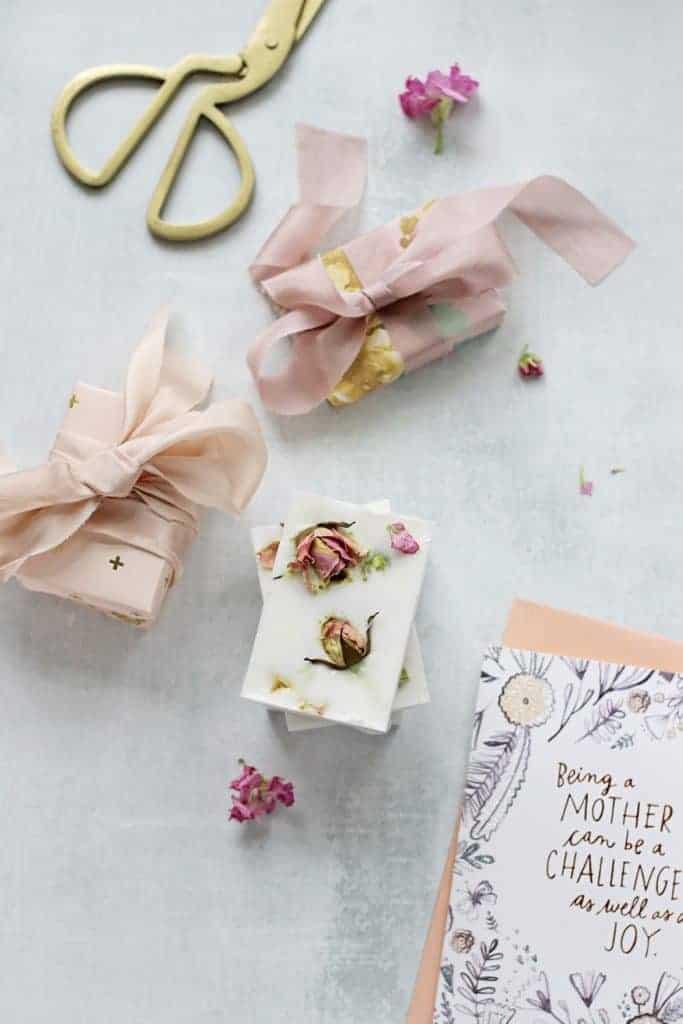 DIY Flower Petal Soaps from Hello Glow