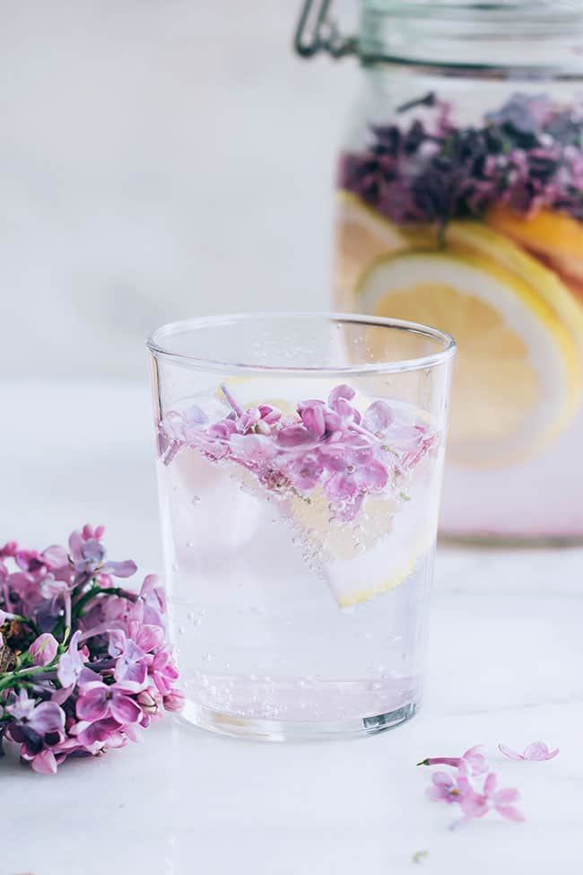 Celebrate the Weekend with a Fizzy Lilac, Ginger and Citrus Cordial