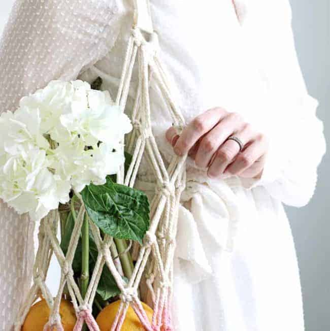 How to Make a Macramé Produce Bag for Your Farmers' Market Haul