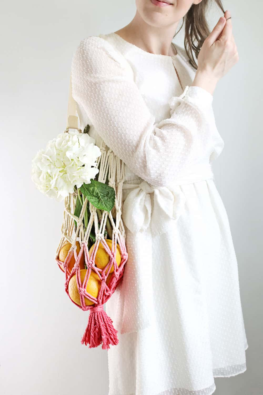 How to Make a Macramé Produce Bag for Your Farmers' Market Haul