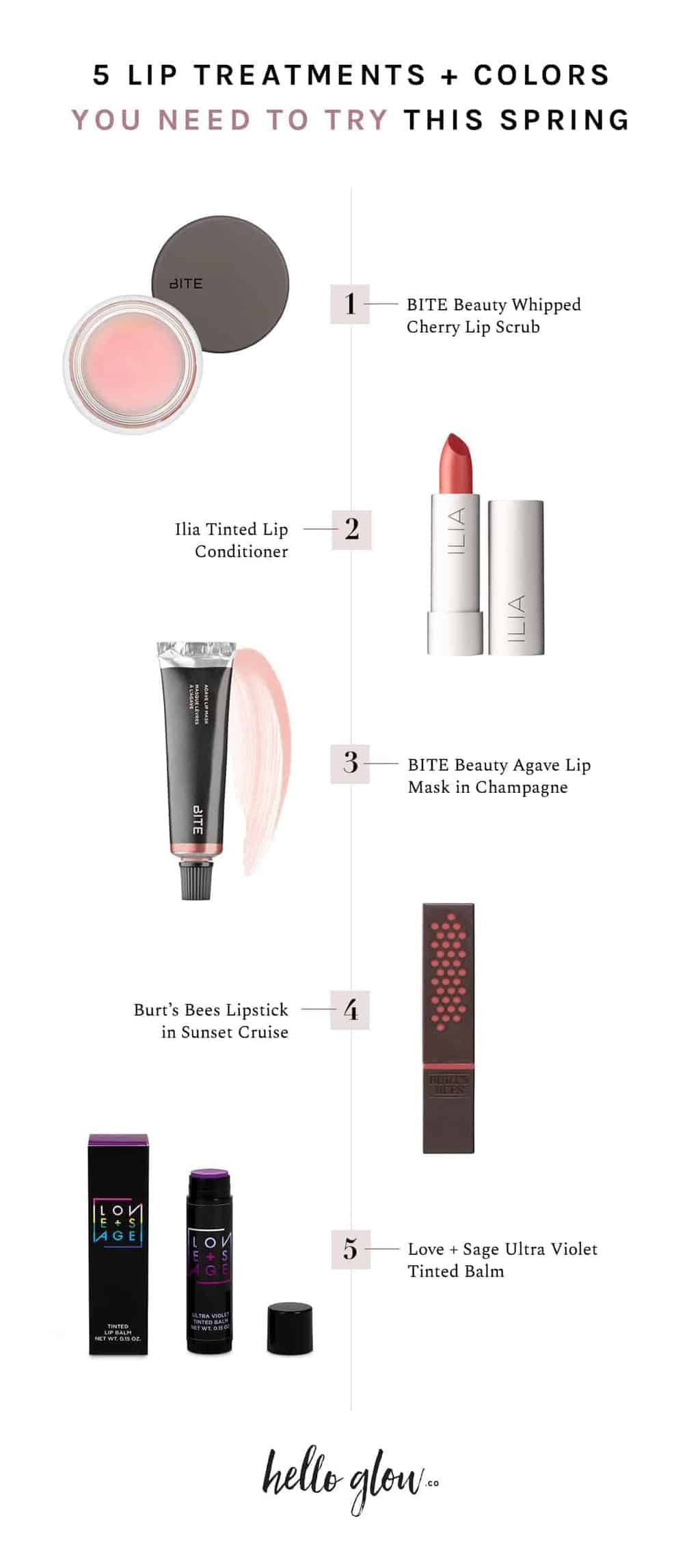5 Lip Treatments + Colors You Need to Try This Spring