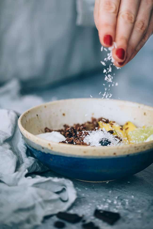 Beauty Boosting Chocolate Quinoa Breakfast Bowl