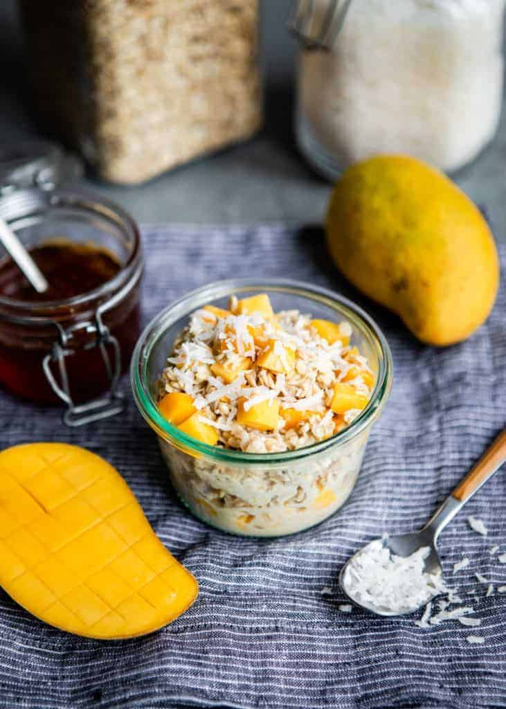 Coco-Mango Overnight Oats