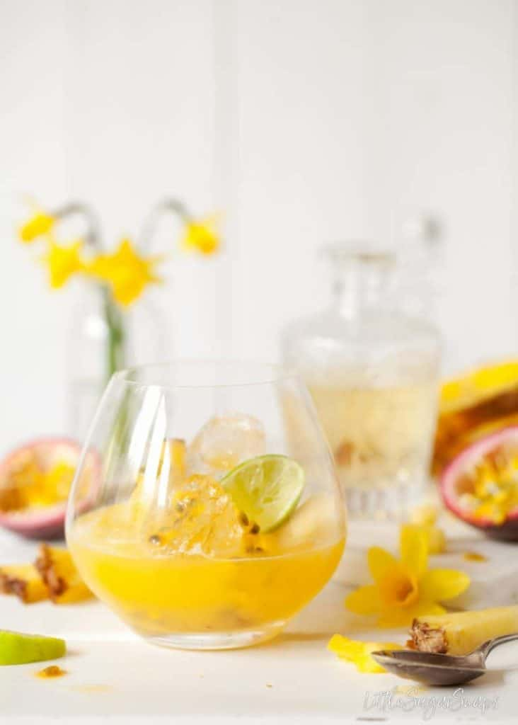 Spring Gin & Tonic with Passionfruit & Pineapple from Little Sugar Snaps