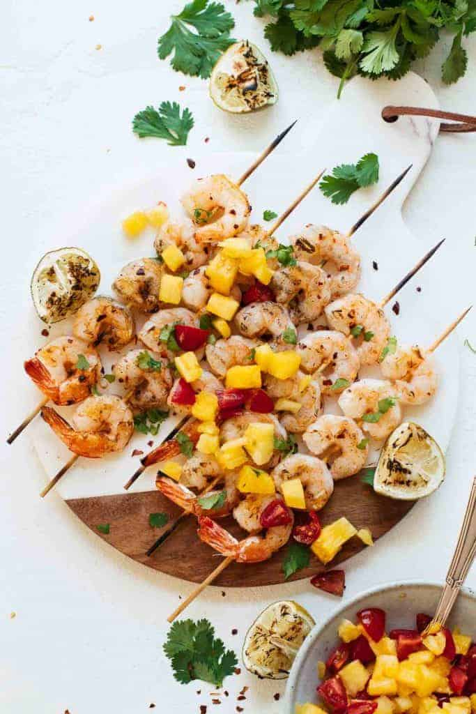 Spicy Grilled Shrimp with Pineapple Sauce from Jar of Lemons