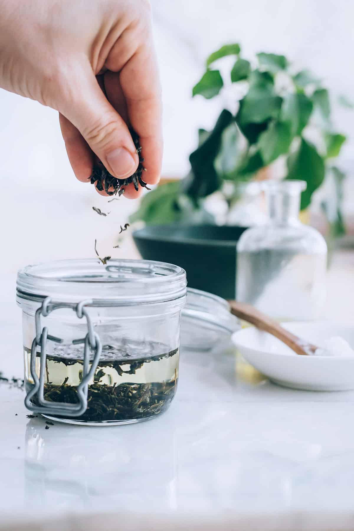 DIY Green Tea SPF Lip Balm