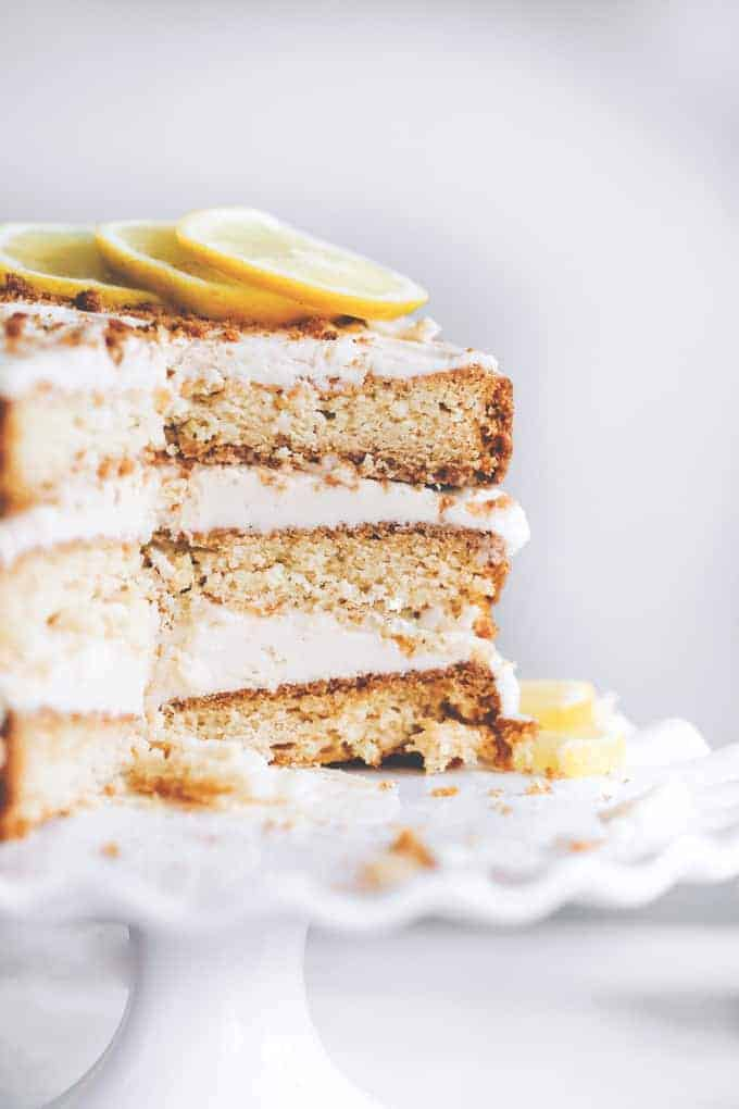 Vegan Lemon Cream Layer Cake from Neurotic Mommy