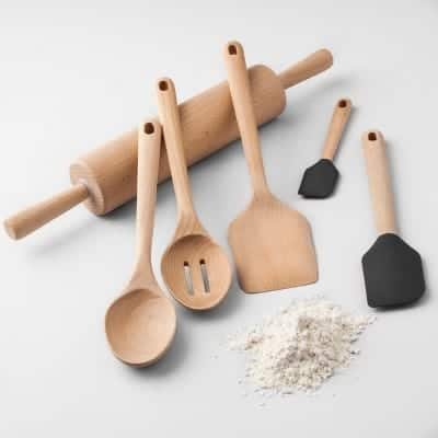 Beech Wood Kitchen Utensils Collection