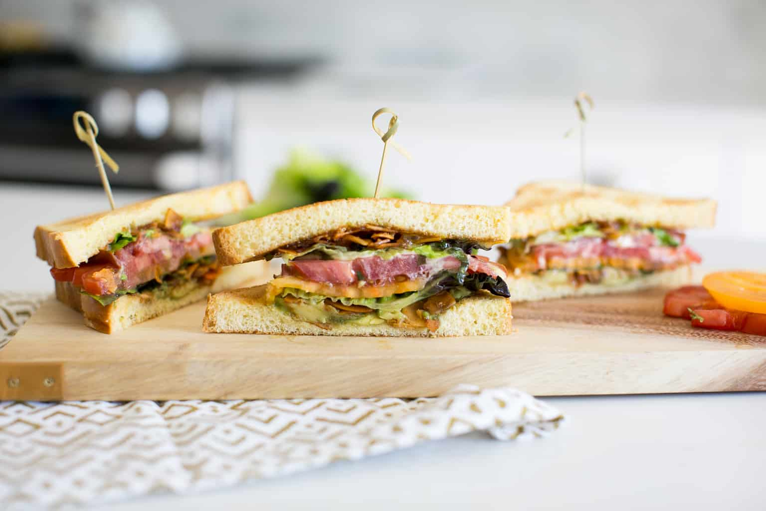 Heirloom Tomato & Coconut Bacon BLT with Basil Aioli