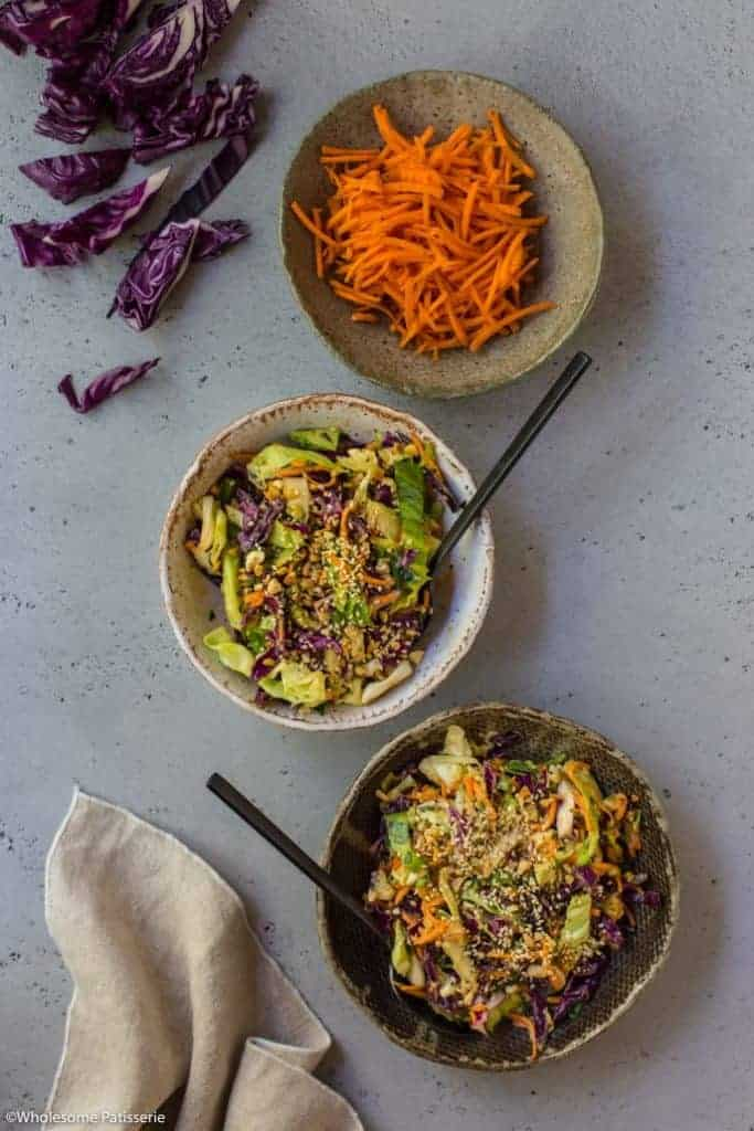 Crunchy Coleslaw + Peanut Butter Dressing from Whole Patisserie