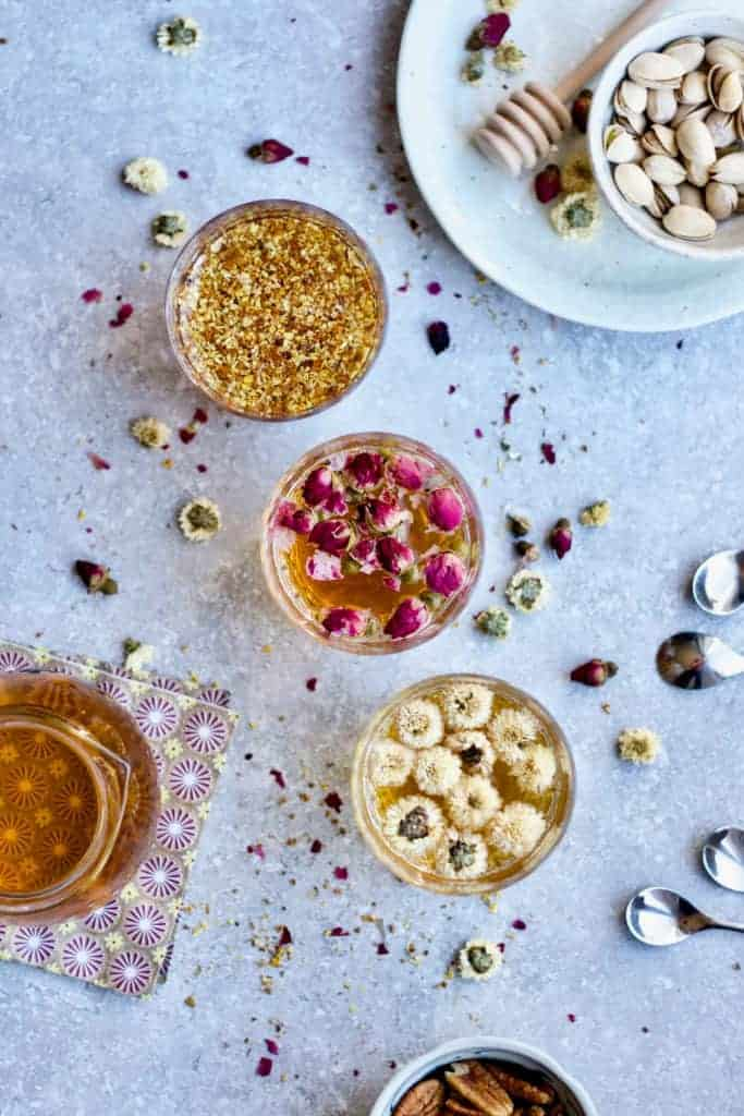Easy DIY Floral Tea 3 Ways from Yang's Nourishing Kitchen