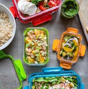 Ello Duraglass Meal Prep Bowls 5 Ways | HelloGlow.co