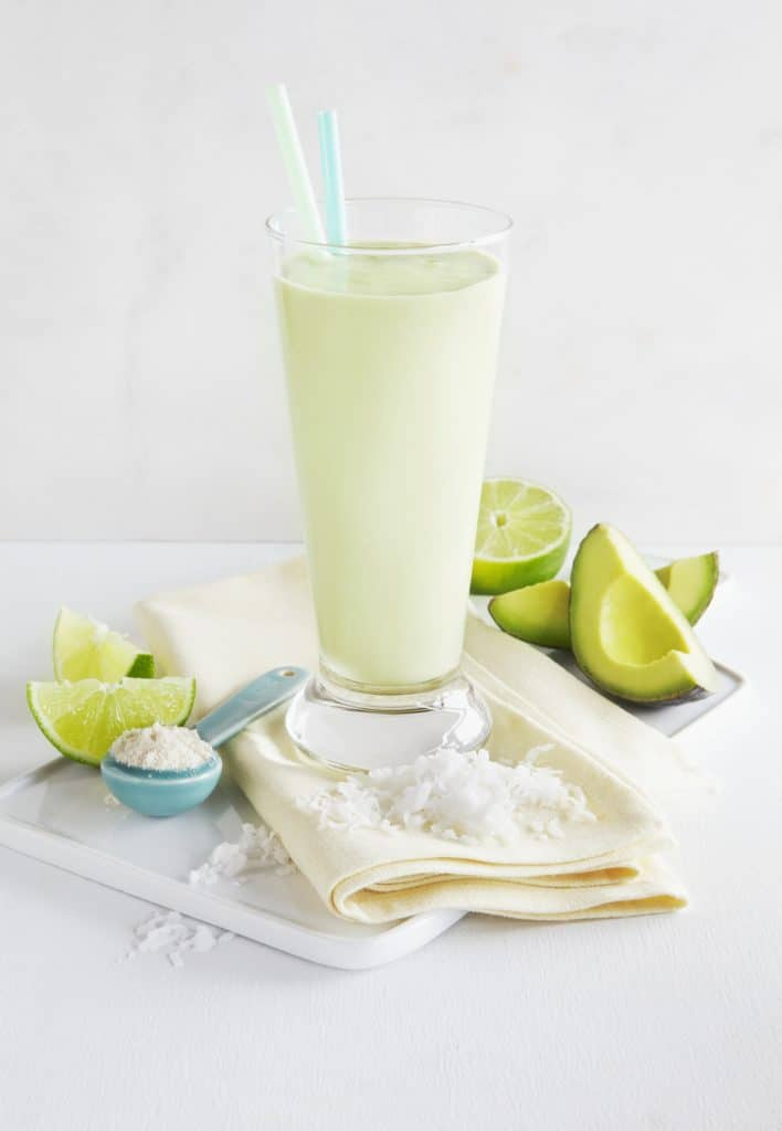 Coconut Lime Bone Broth Smoothie