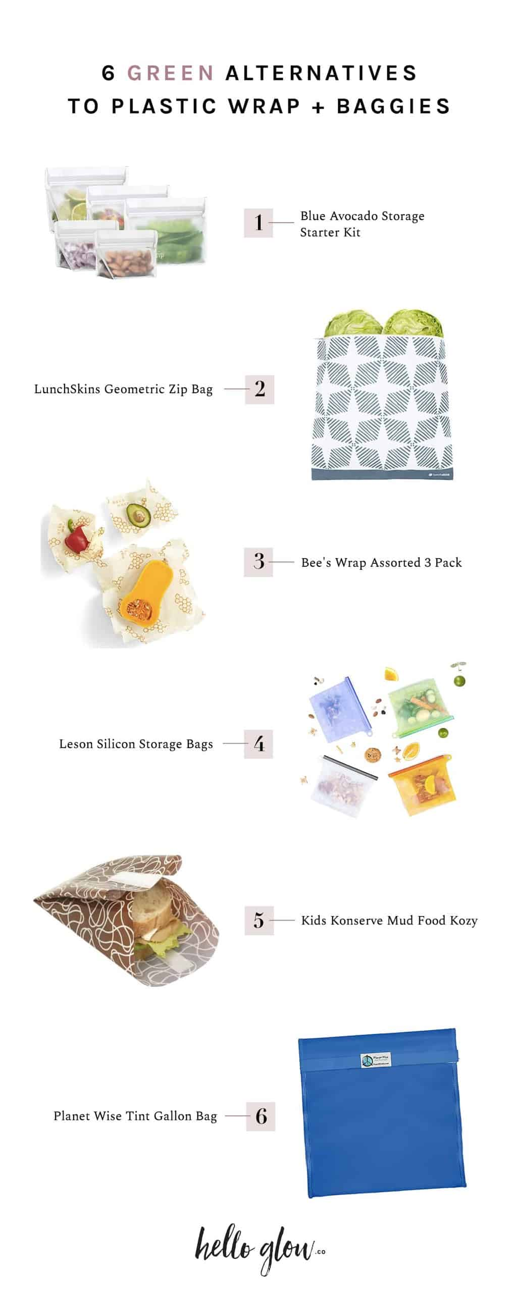 6 Green Alternatives to Plastic Wrap & Baggies