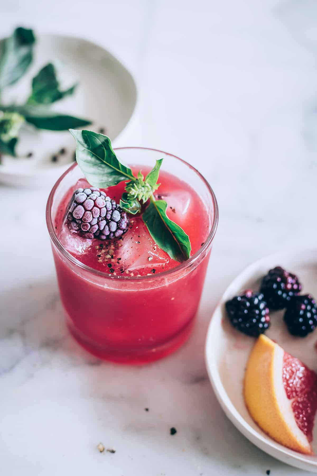 Celebrate the Weekend with a Gorgeous Blackberry Black Pepper Cooler