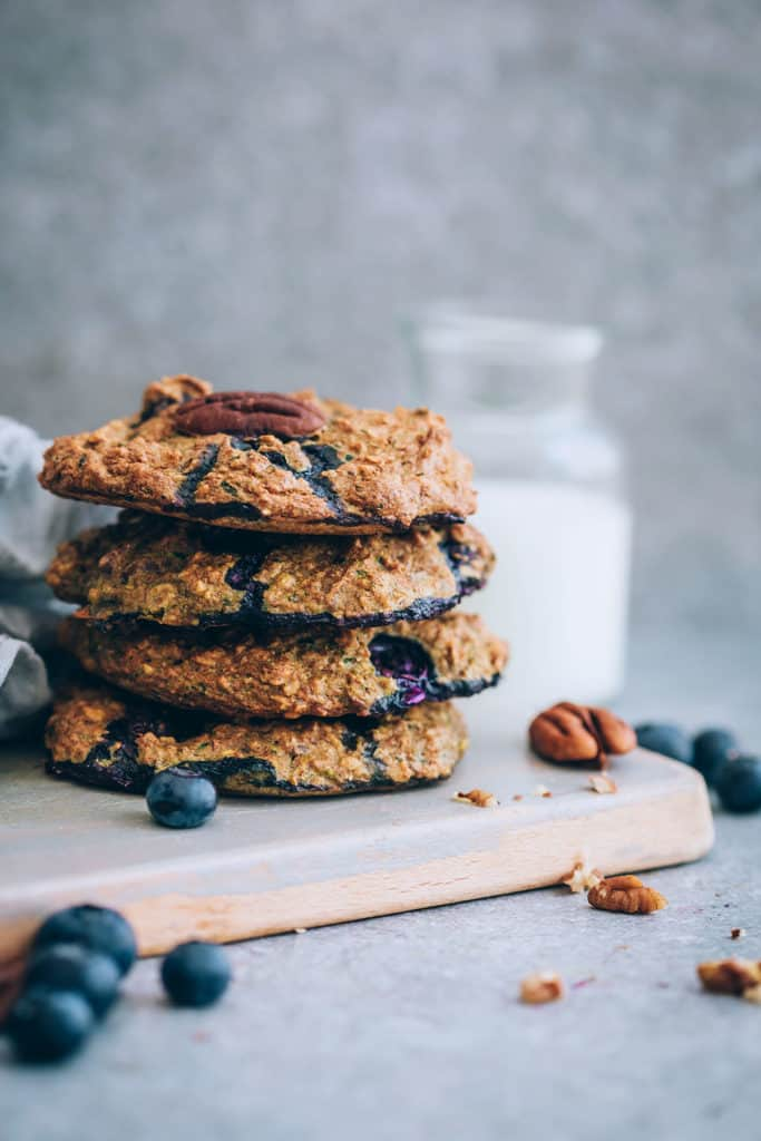 Blueberry Zucchini Breakfast Cookies from Hello Glow