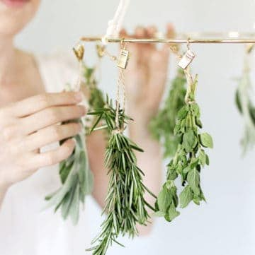 This DIY Herb Drying Rack Is the Kitchen Accessory You Didn't Know You Needed