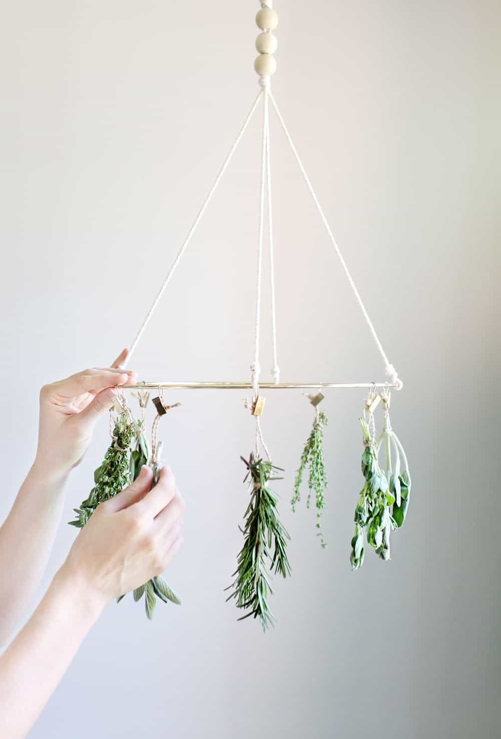A drying rack that's stylish, functional, and a serious money saver the cost of store-bought dried herbs