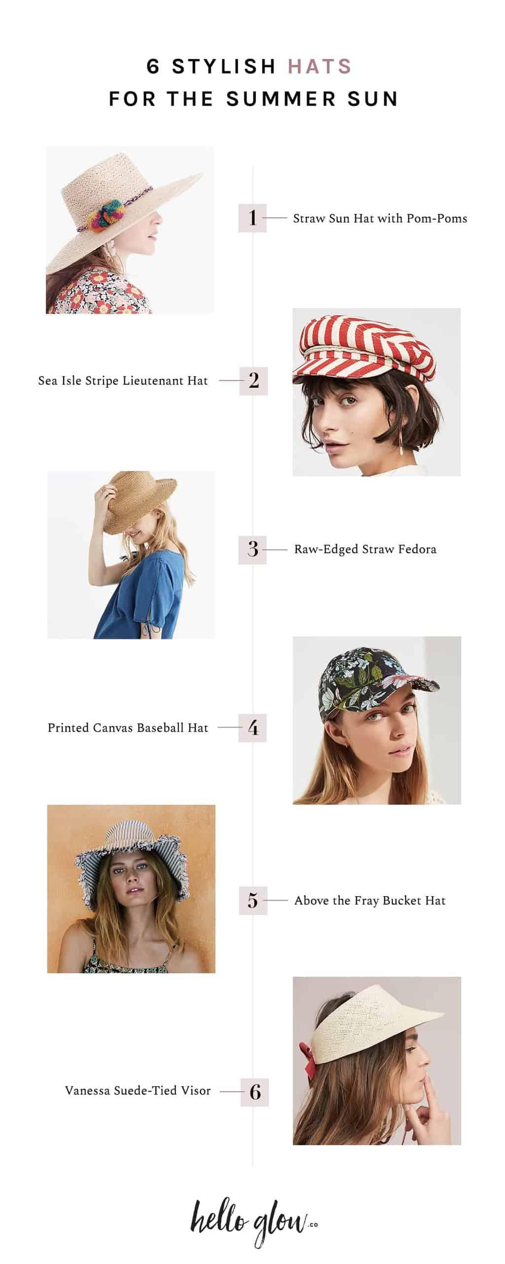 6 Stylish Hats for the Summer Sun