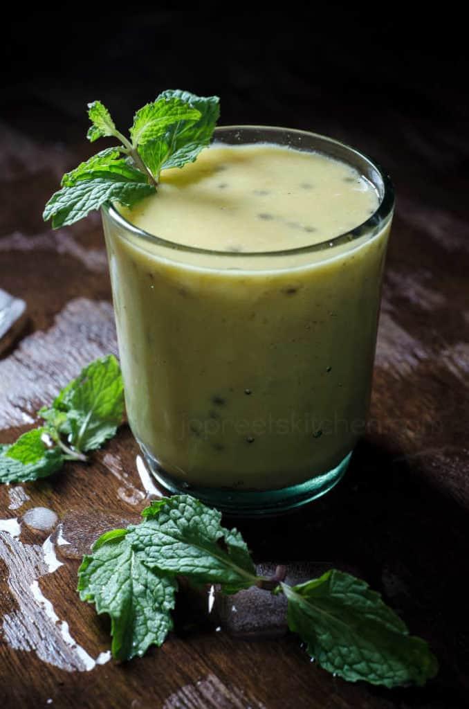 Mango, Coconut Milk & Sabja Seeds Smoothie from Jopreet's Kitchen