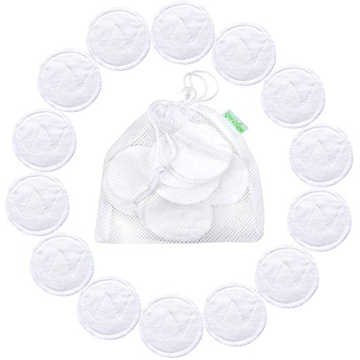14 Pack Wegreeco Bamboo Makeup Remover Pads with Laundry Bag