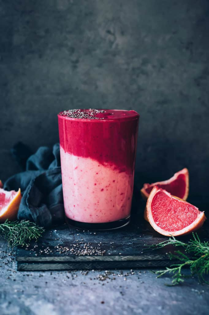 12 All-Natural Pink and Red Recipes That Are Still a Treat - Grapefruit Immune Boosting Smoothie from Hello Glow