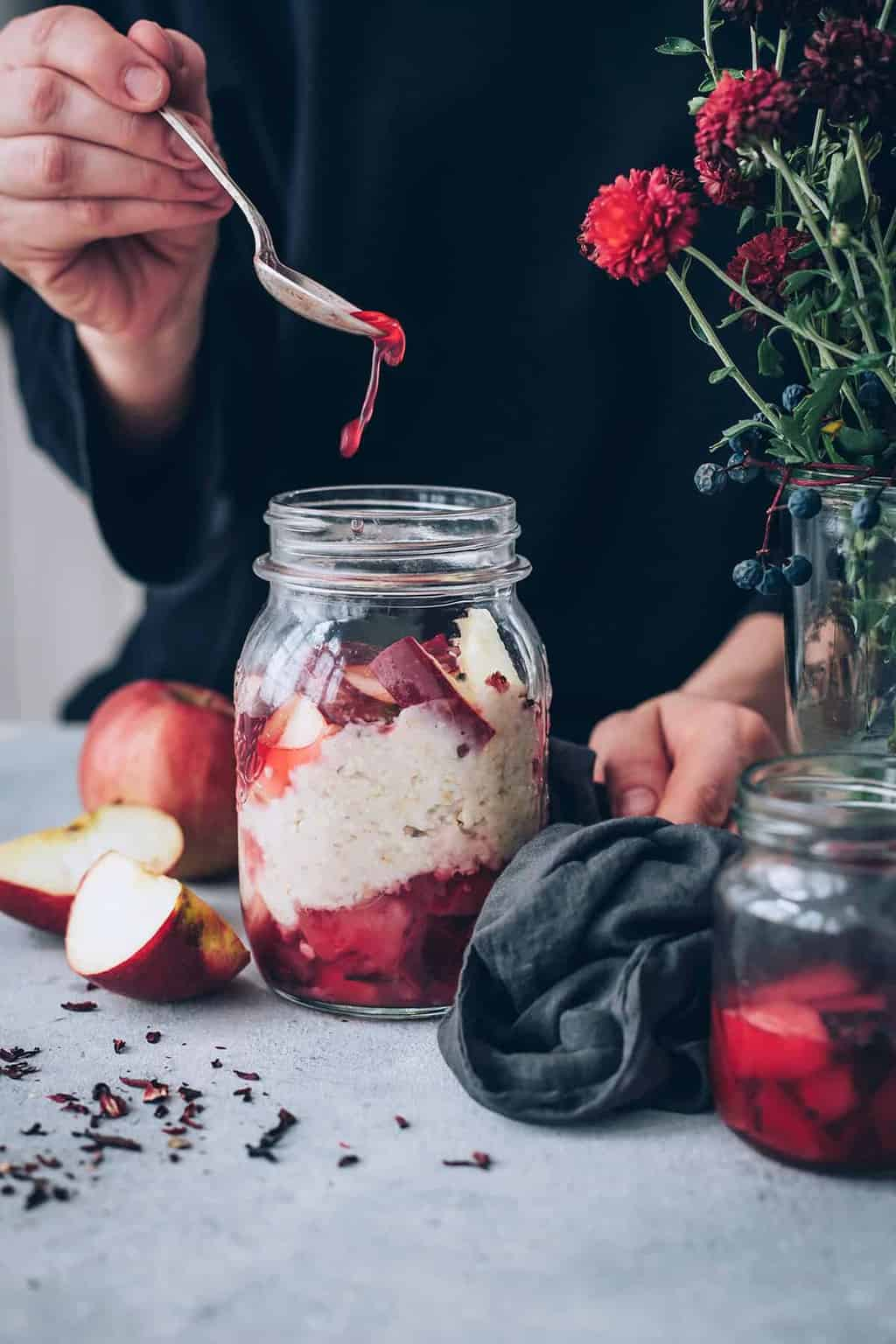 Overnight Oats with Apple Compote