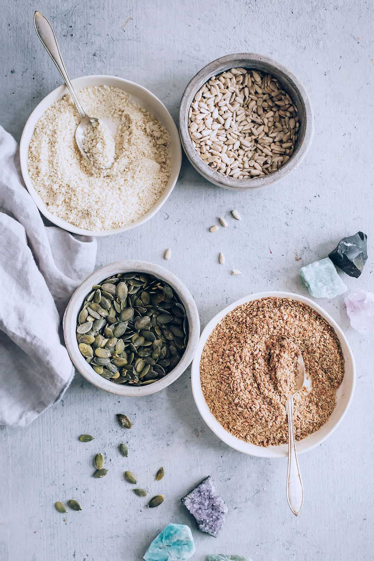 Adding seeds to smoothies for protein