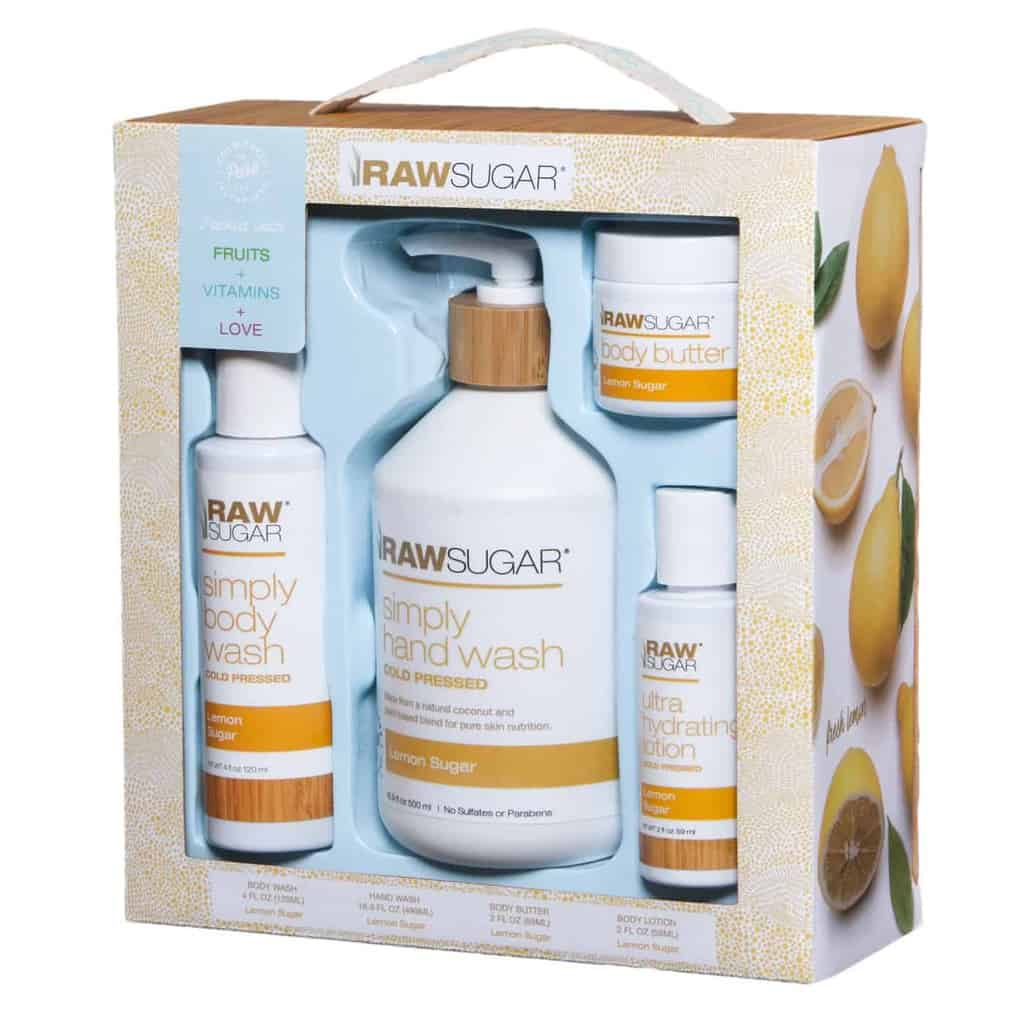 Raw Sugar Lemon Sugar Body Care Gift Set