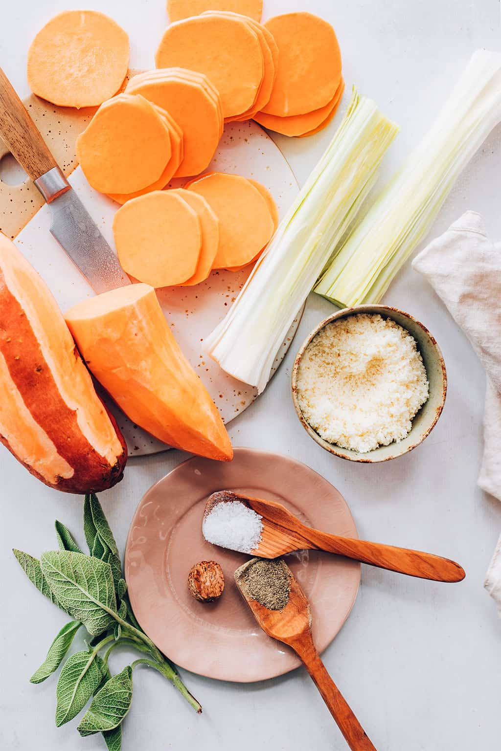 Savory Sweet Potato Gratin Recipe
