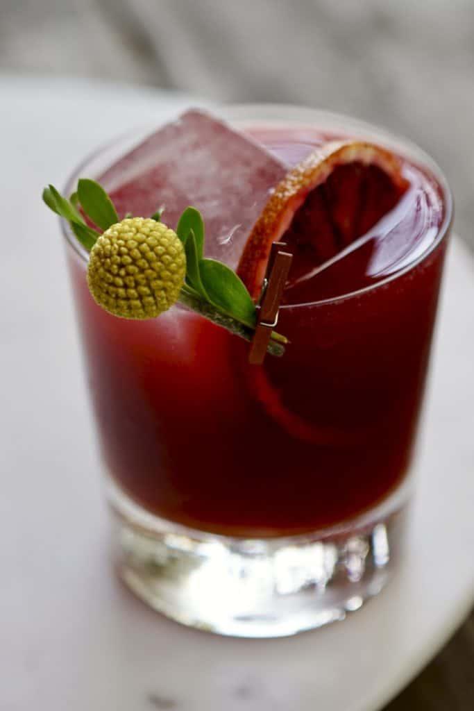 Blood Orange-Pomegranate Mocktail from Simmer + Sauce