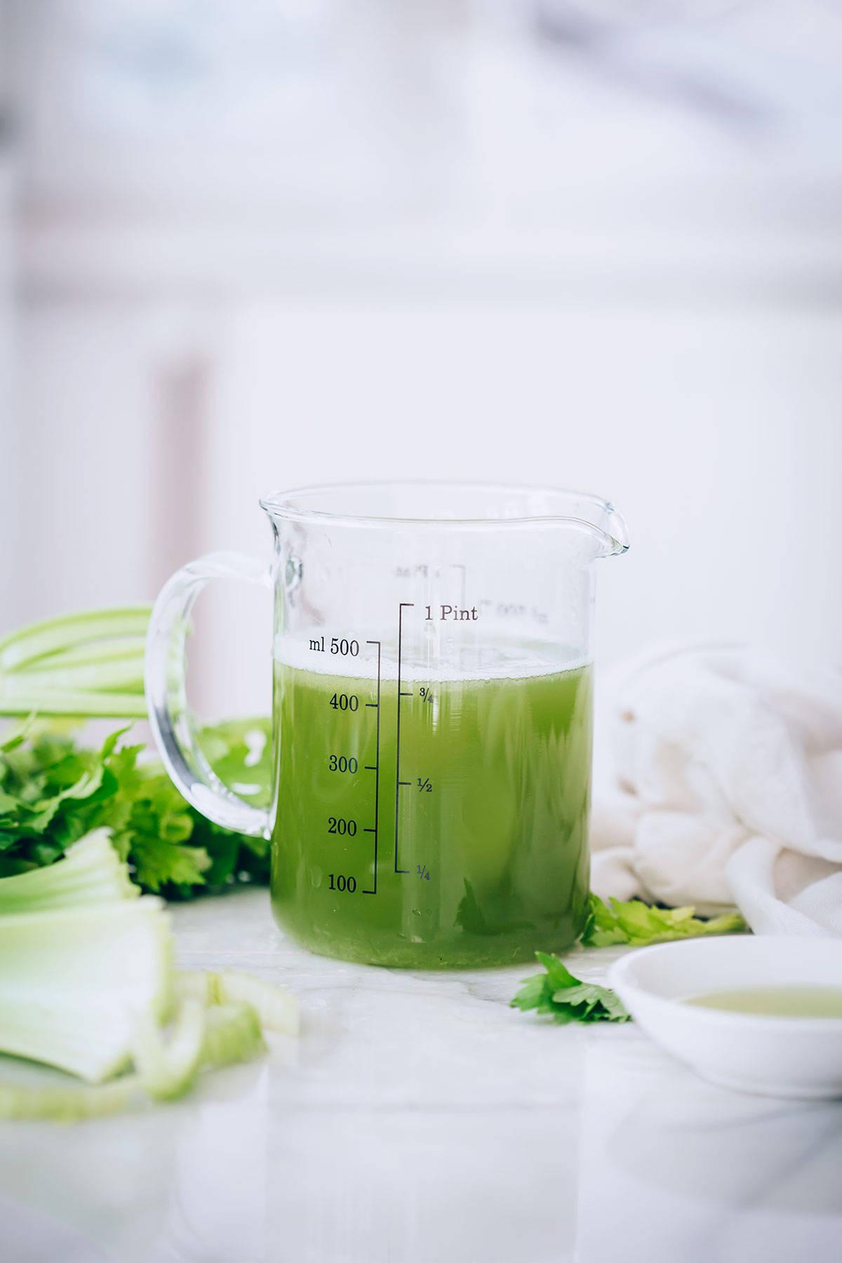 Celery Juice Recipe + Benefits