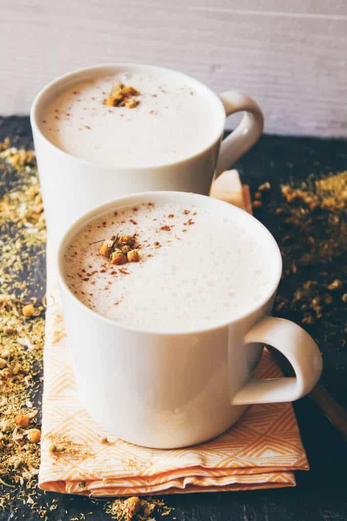 CBD Chamomile Tea Latte from Good Saint