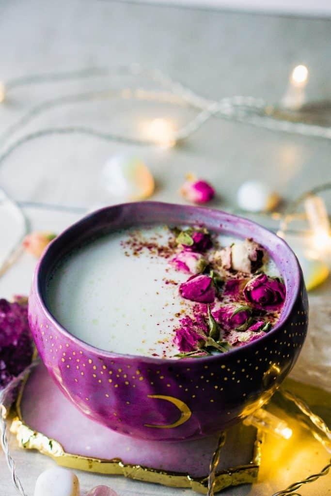 Rose Cardamom Almond Moon Milk from My Tiny Laguna Kitchen