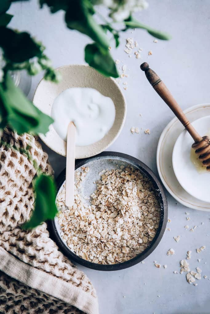 sensitive skin oatmeal face mask | 50 face mask recipes